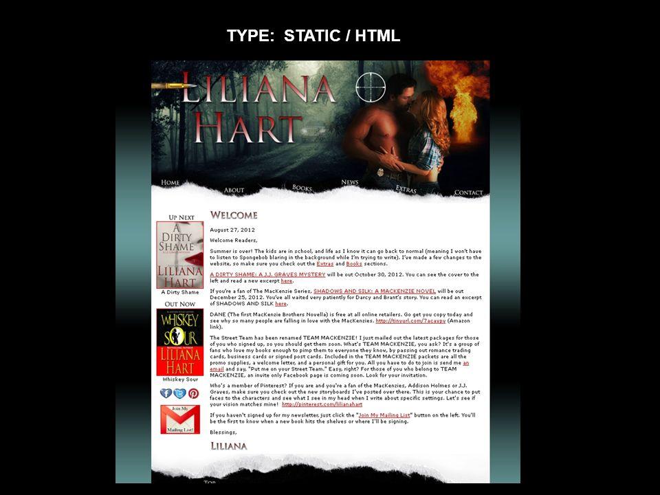 TYPE: STATIC / HTML