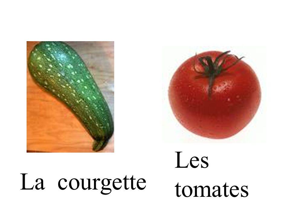 La courgette Les tomates