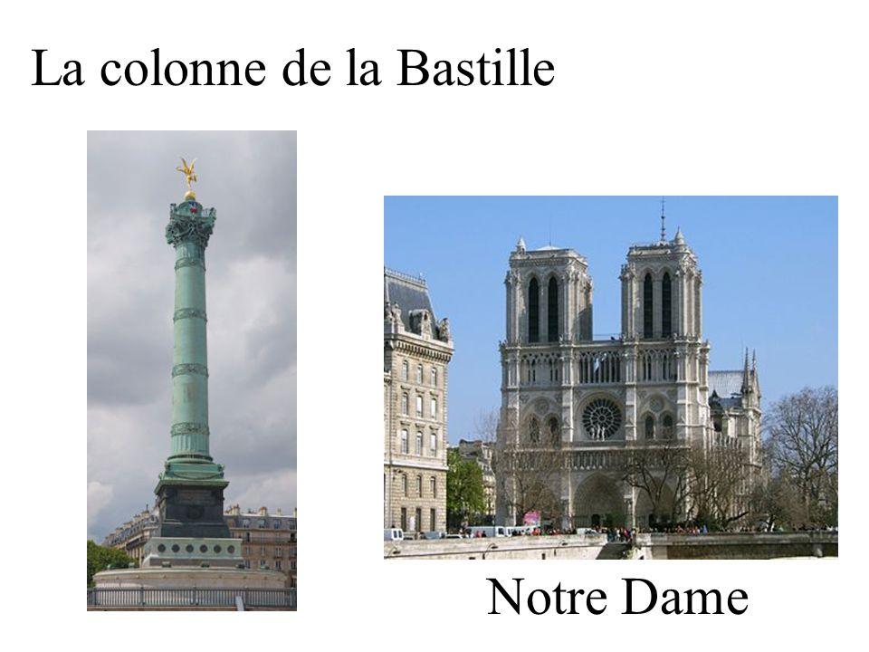 La colonne de la Bastille Notre Dame
