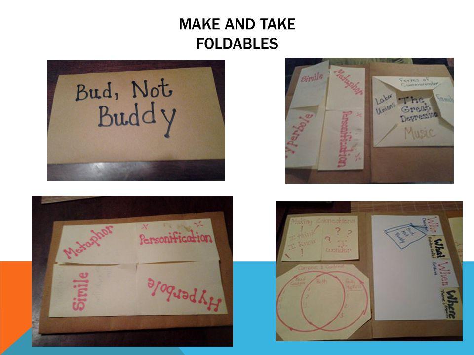 MAKE AND TAKE FOLDABLES