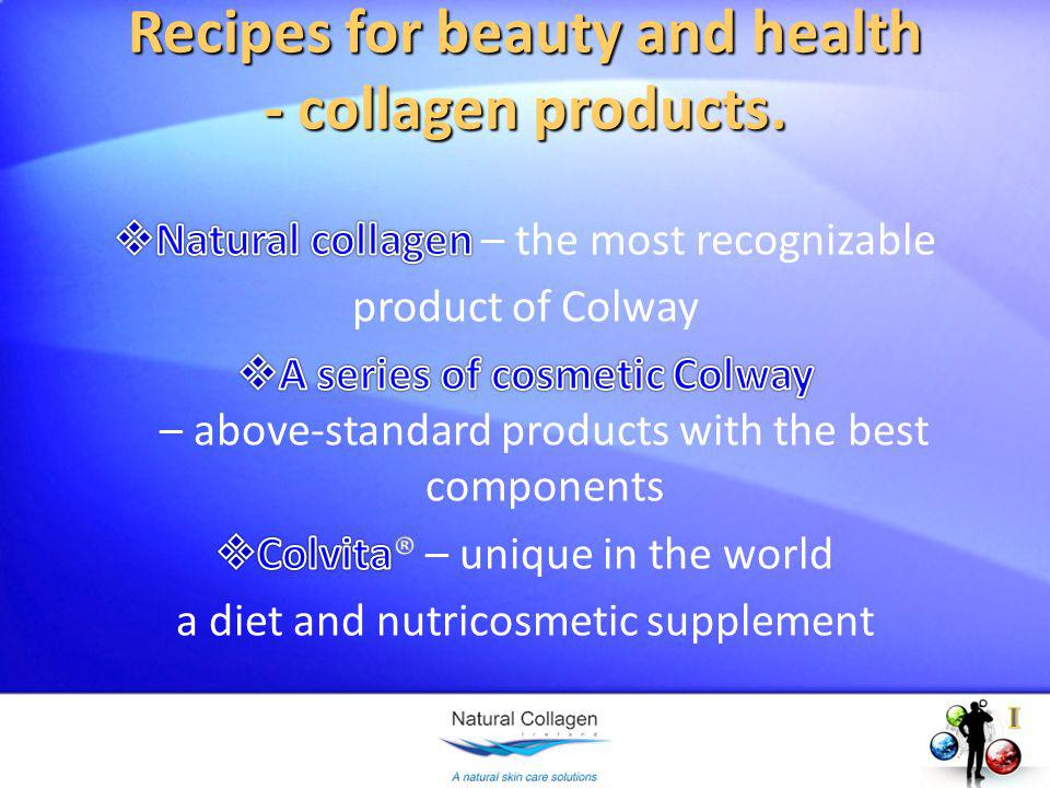 Recipes for beauty and health - collagen products.