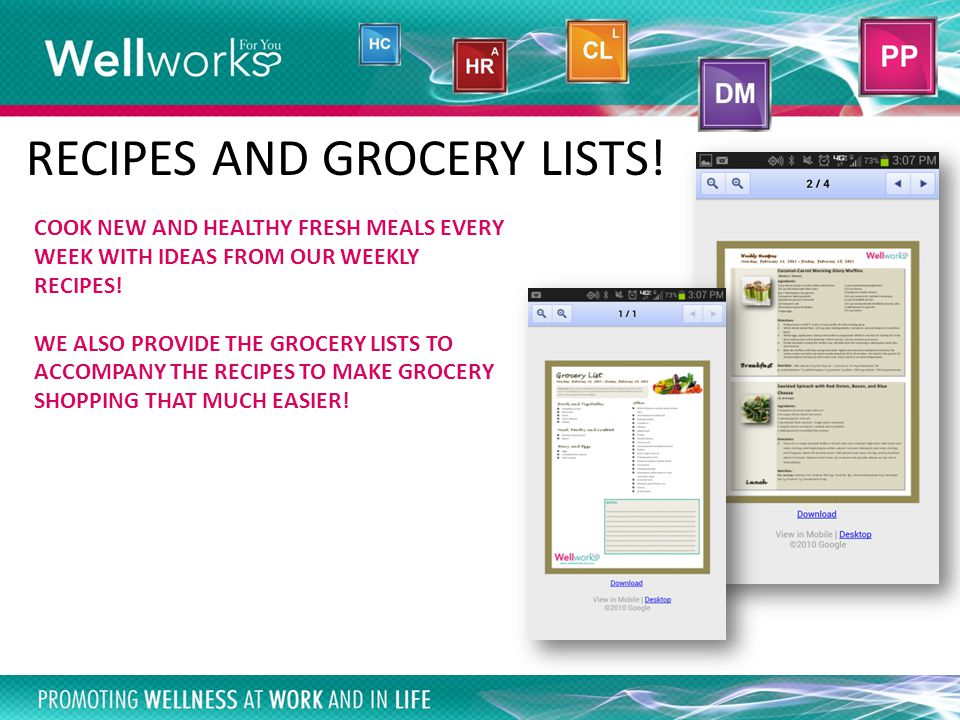 Smartphone App COOK NEW AND HEALTHY FRESH MEALS EVERY WEEK WITH IDEAS FROM OUR WEEKLY RECIPES.
