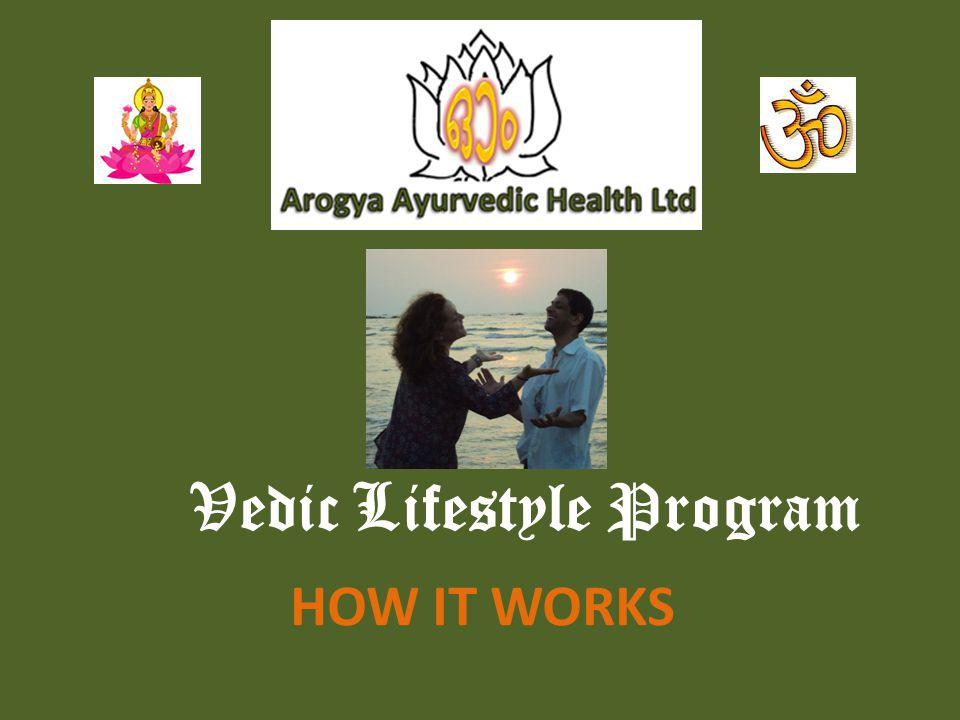 Vedic Lifestyle Program HOW IT WORKS