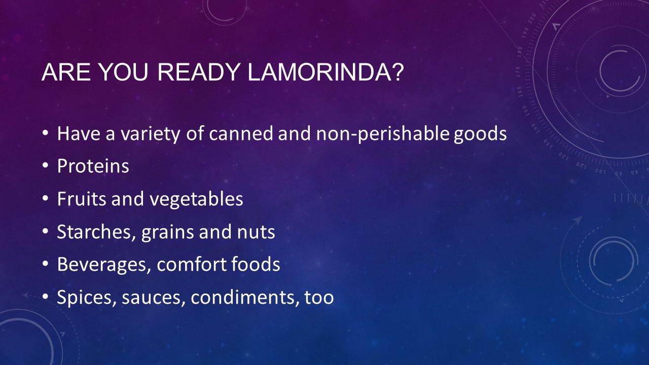 ARE YOU READY LAMORINDA.