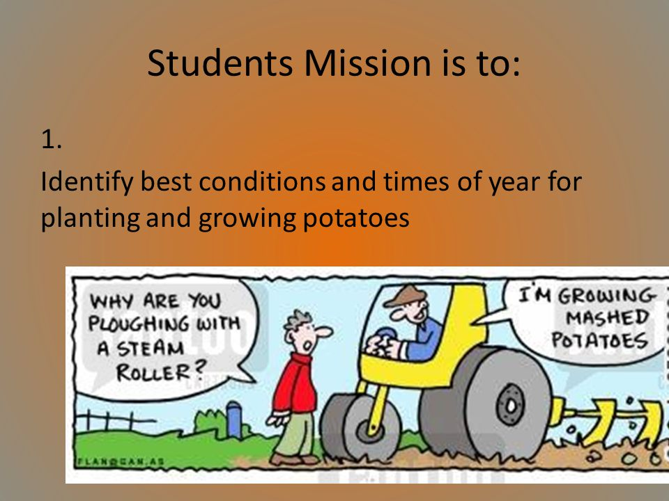 Students Mission is to: 1.