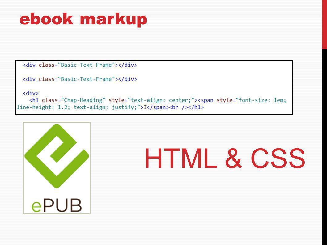 ebook markup HTML & CSS