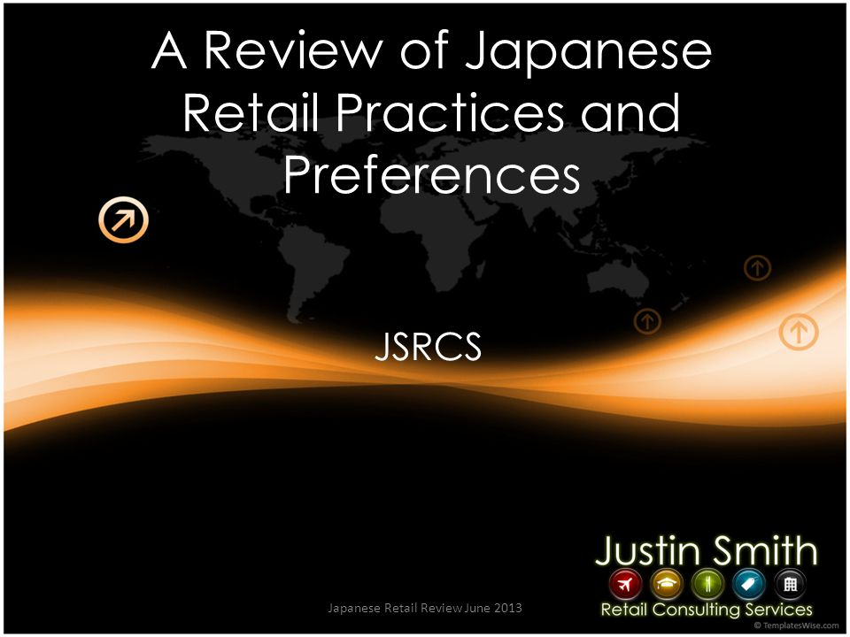 Summary Japanese Retail Review June 2013 The Japanese Culture of respect and assistance dominates the Retail customer interaction process.