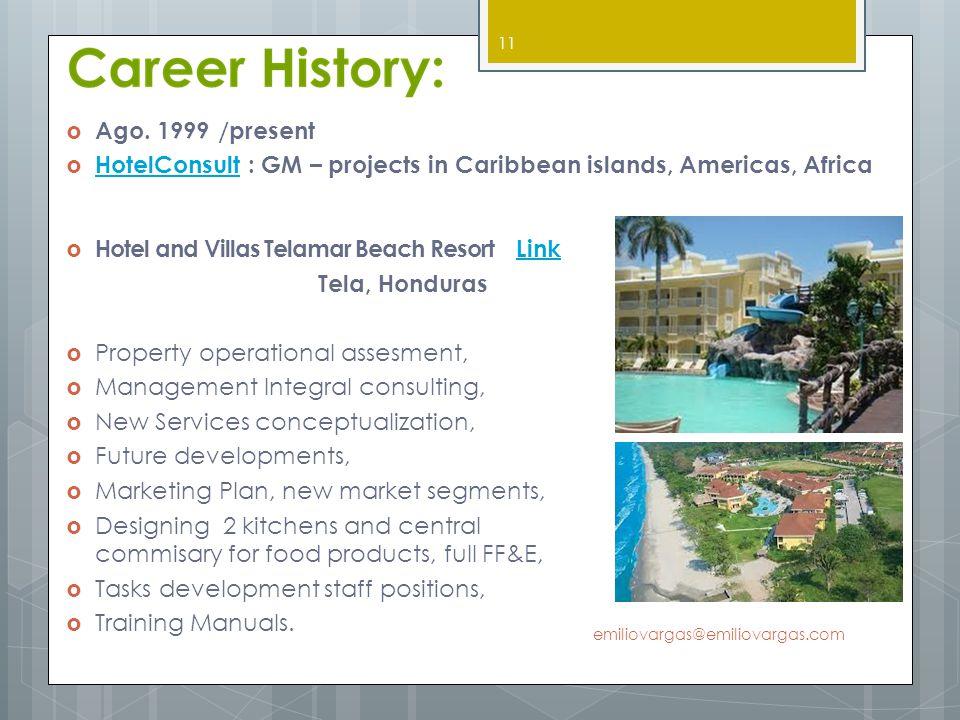 Hotel and Villas Telamar Beach Resort LinkLink Tela, Honduras Property operational assesment, Management Integral consulting, New Services conceptuali