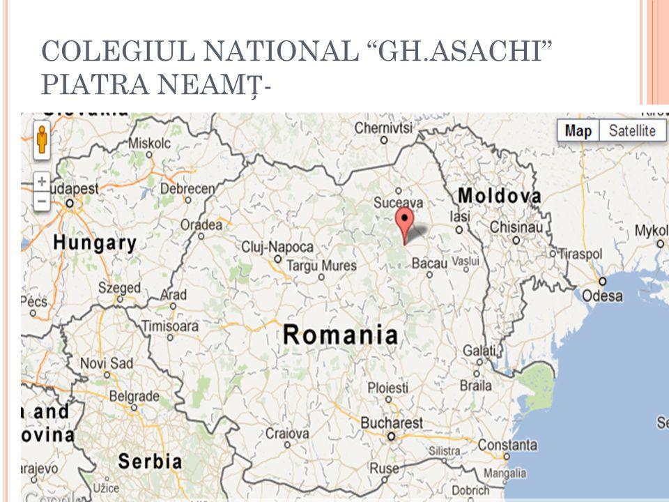 COLEGIUL NATIONAL GH.ASACHI PIATRA NEAM-