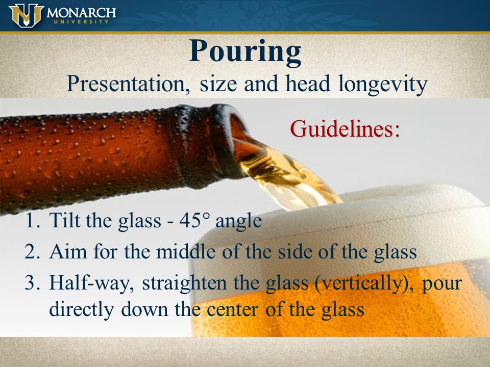 Tasting Guidelines Clean and clear glassware – no towel drying.