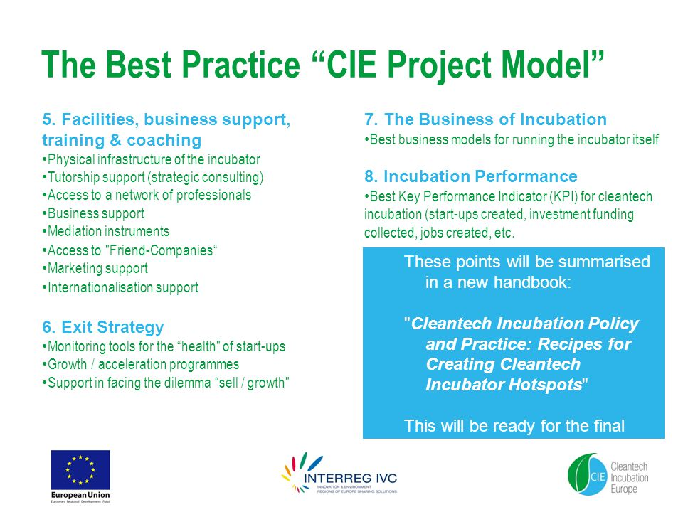 The Best Practice CIE Project Model 5.