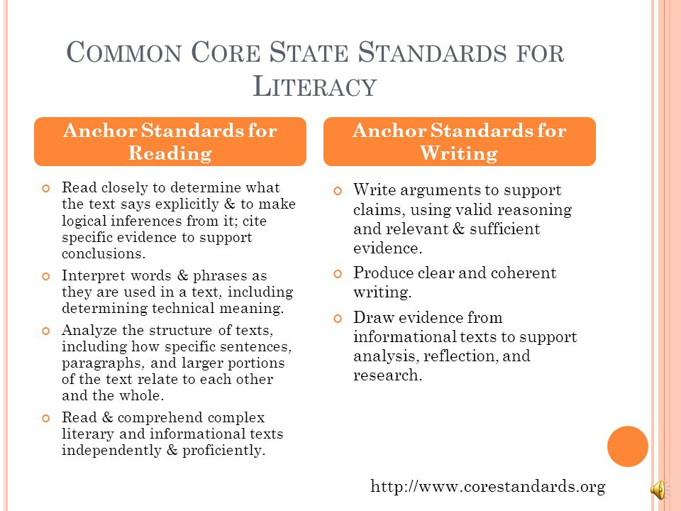 C OMMON C ORE S TATE S TANDARDS FOR L ITERACY Read closely to determine what the text says explicitly & to make logical inferences from it; cite specific evidence to support conclusions.