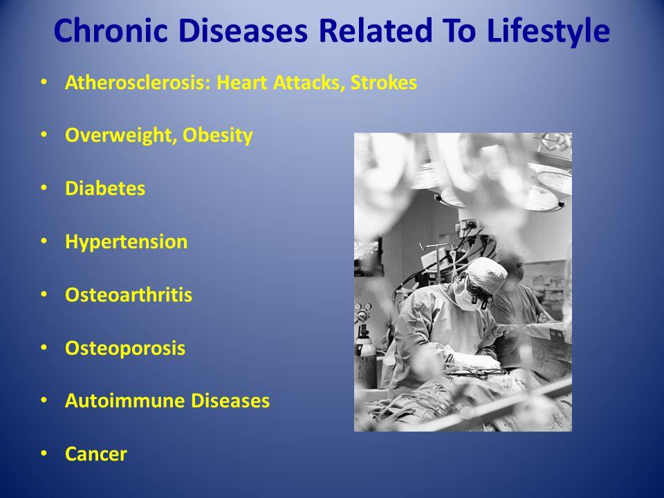 Chronic Diseases Related To Lifestyle Atherosclerosis: Heart Attacks, Strokes Overweight, Obesity Diabetes Hypertension Osteoarthritis Osteoporosis Au