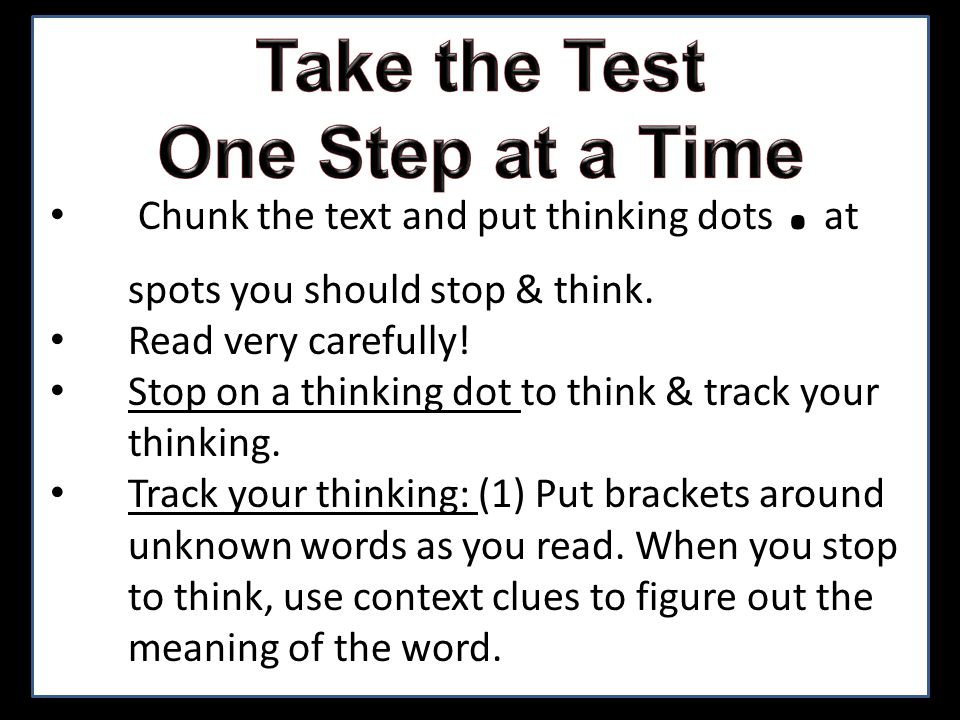 Track your thinking: (2) Put a next to places where a possible answer to a question might be found later.