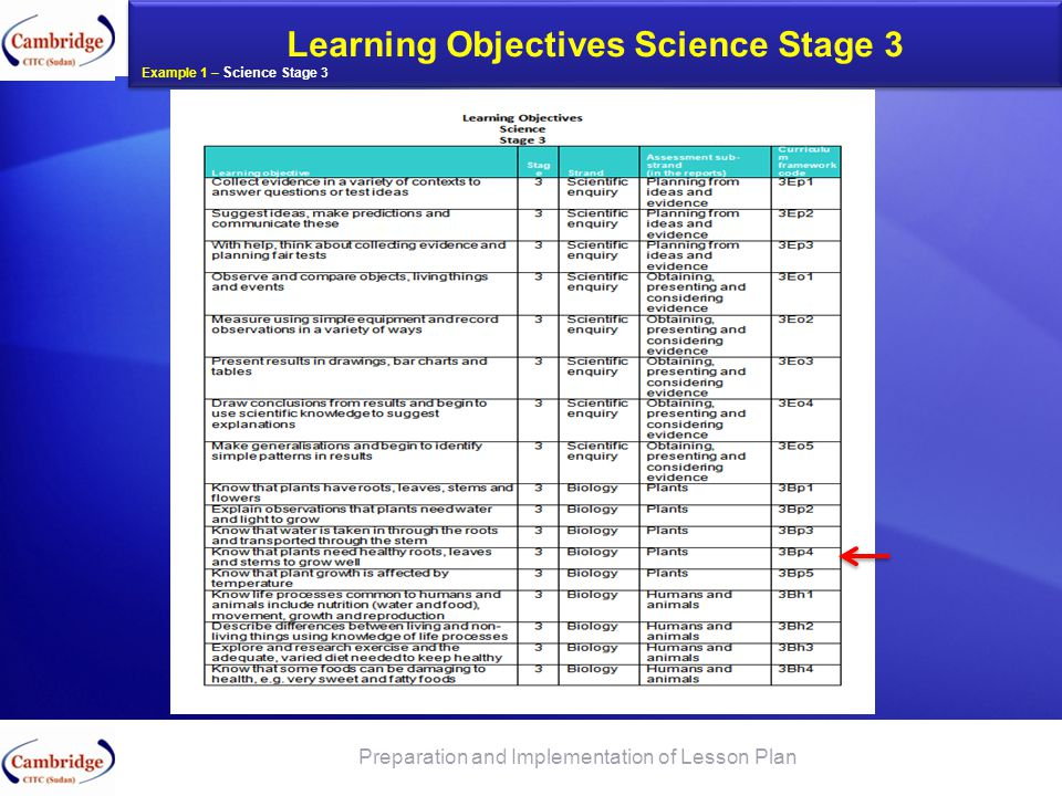 Learning Objectives Science Stage 3 App SATs Short Term Planning To be prepared by the Teachers on weekly basis Preparation and Implementation of Less