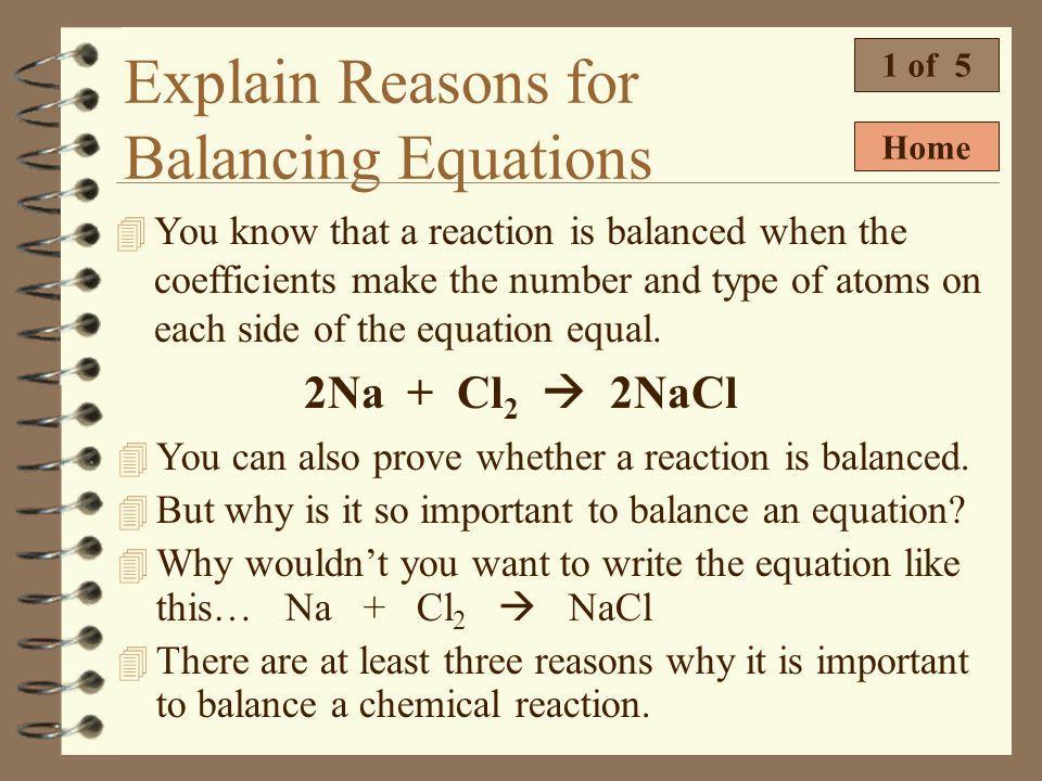 Prove a Chemical Equation is Balanced 6 of 6 Prove the following reaction is balanced. C 6 H 12 O 6 + 6O 2 6CO 2 + 6H 2 O AtomReactantProduct C H O 6