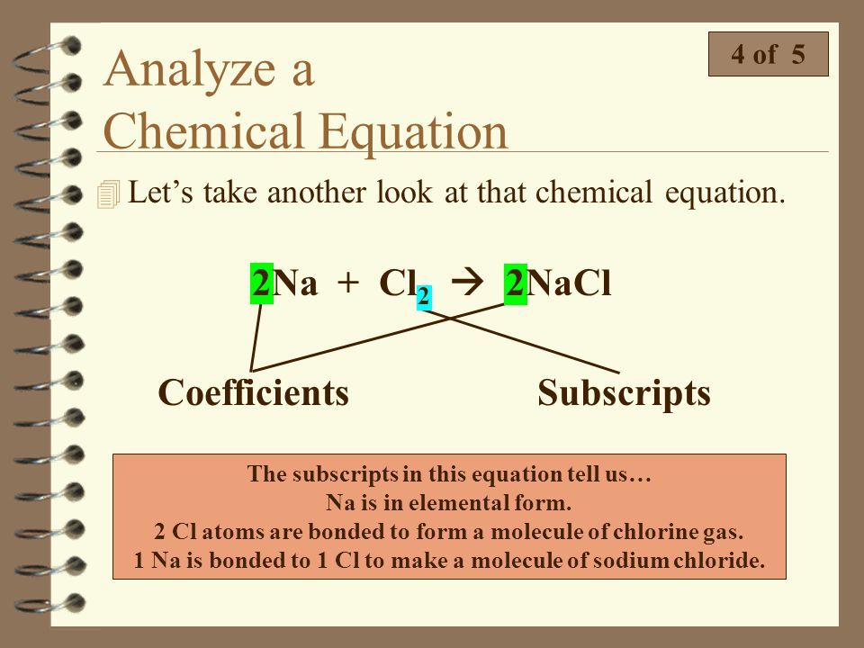 Analyze a Chemical Equation 3 of 5 Identify the reactants and the products in the following reactions. N 2 + 3H 2 2NH 3 BaCO 3 BaO + CO 2 MnO 2 + 4HCl