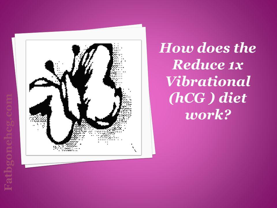 How does the Reduce 1x Vibrational (hCG ) diet work? Fatbgonehcg.com
