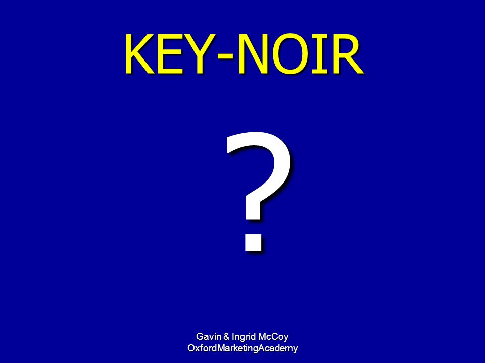KEY-NOIR