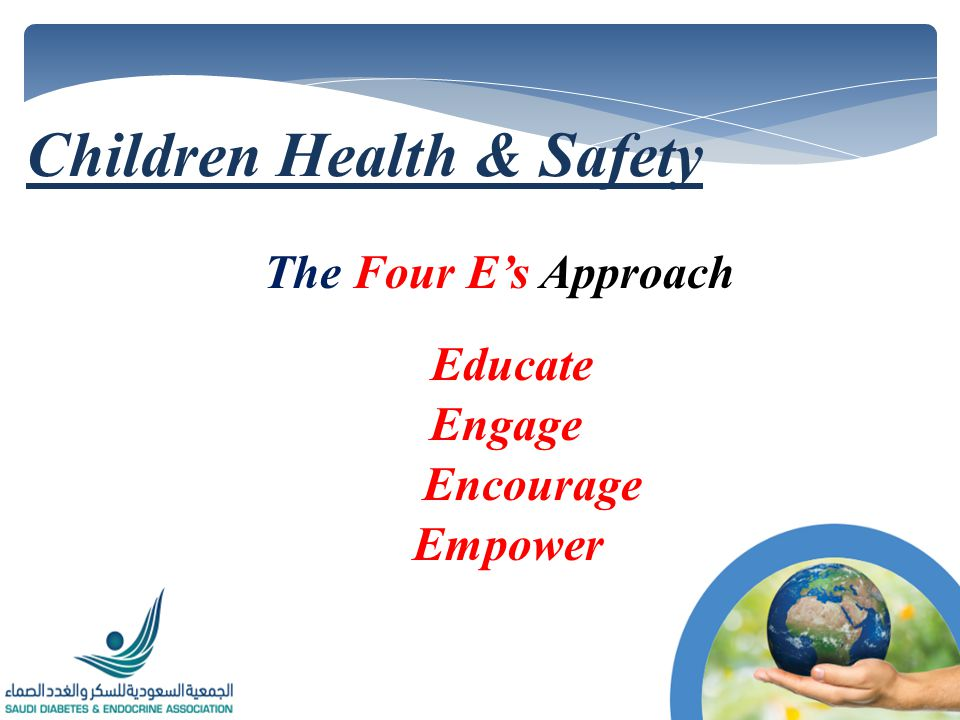 The Four Es Approach Educate Engage Encourage Empower Children Health & Safety