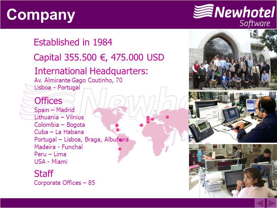 Established in 1984 Capital 355.500, 475.000 USD International Headquarters: Av.