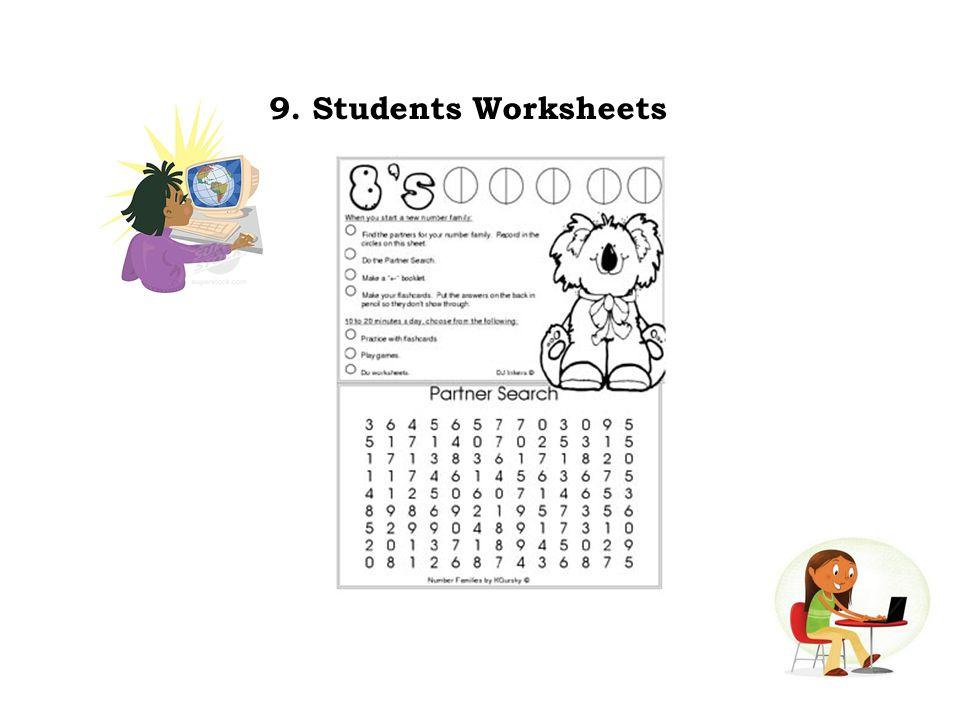 9. Students Worksheets