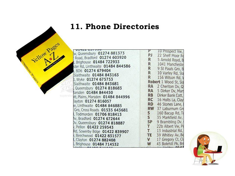 11. Phone Directories