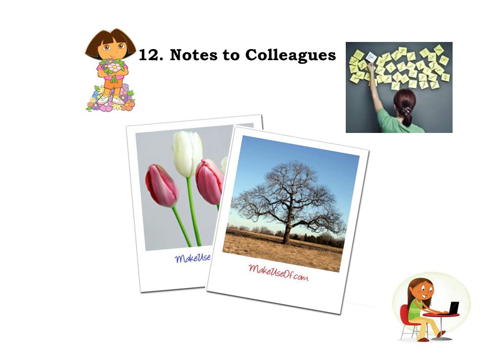 12. Notes to Colleagues