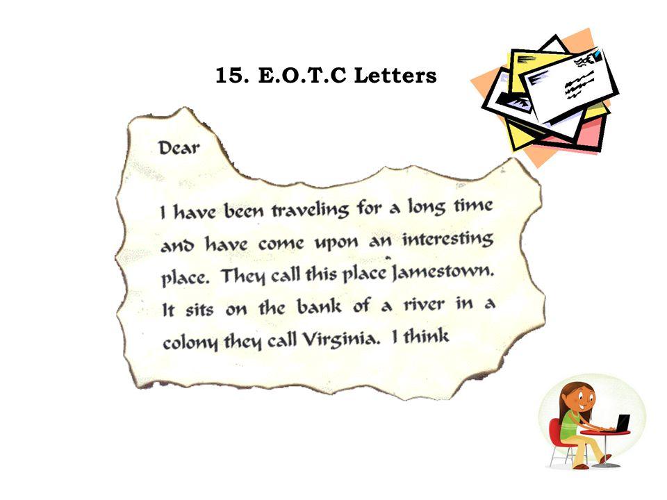 15. E.O.T.C Letters