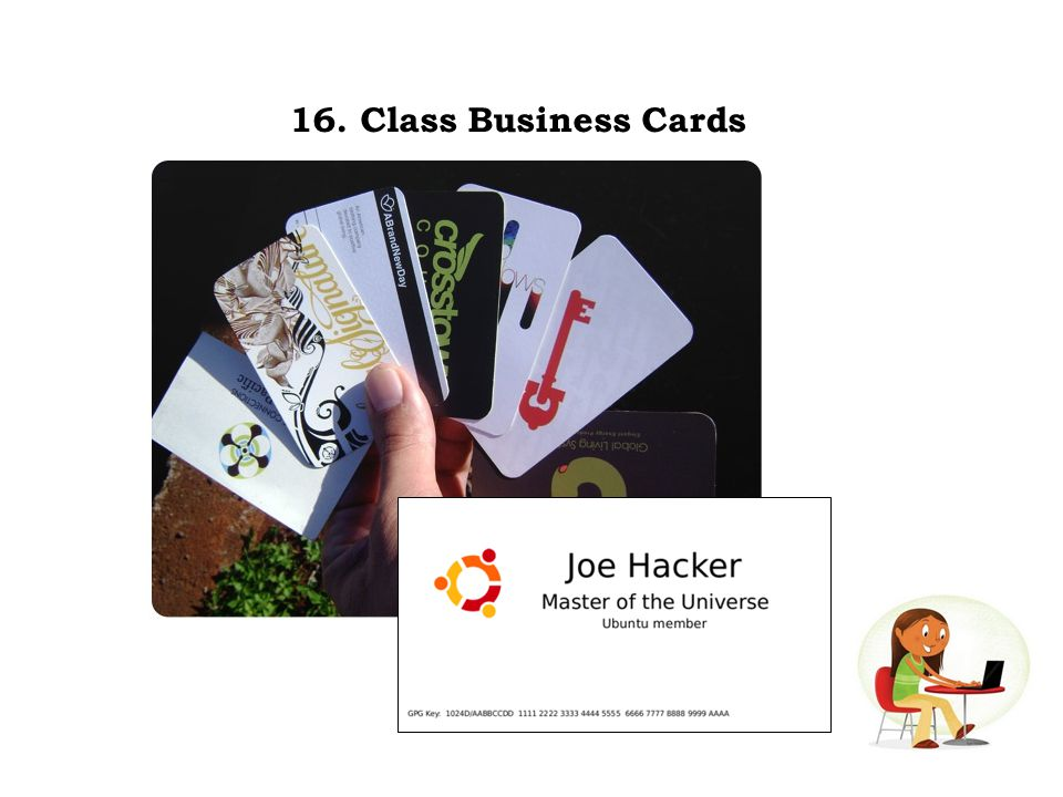 16. Class Business Cards