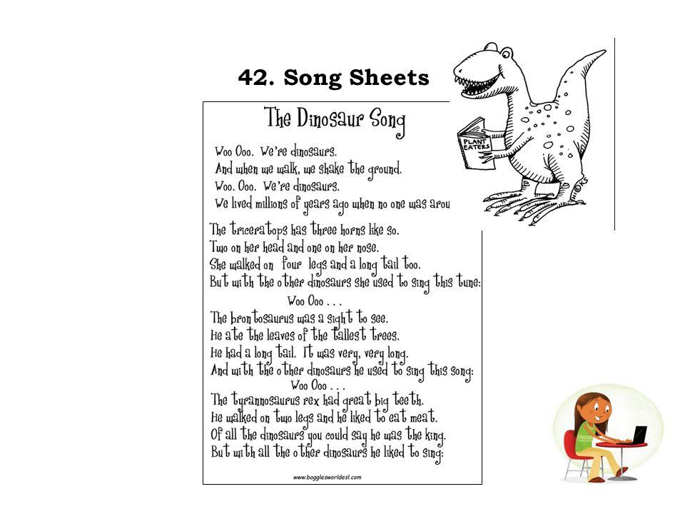 42. Song Sheets