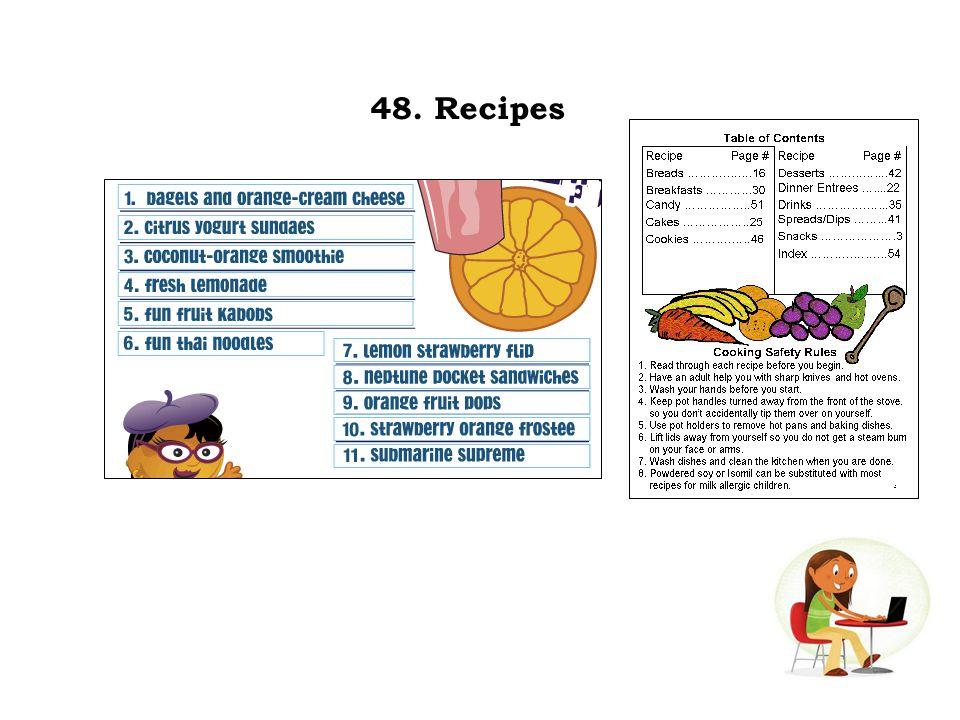 48. Recipes
