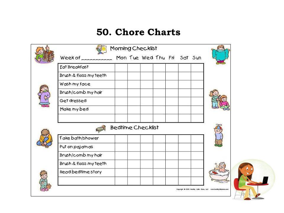 50. Chore Charts