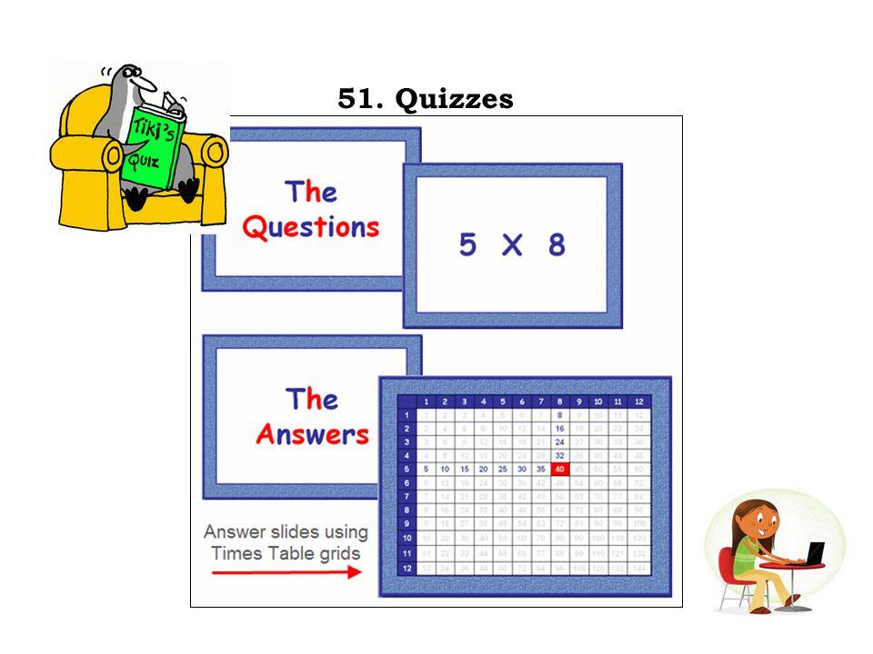 51. Quizzes
