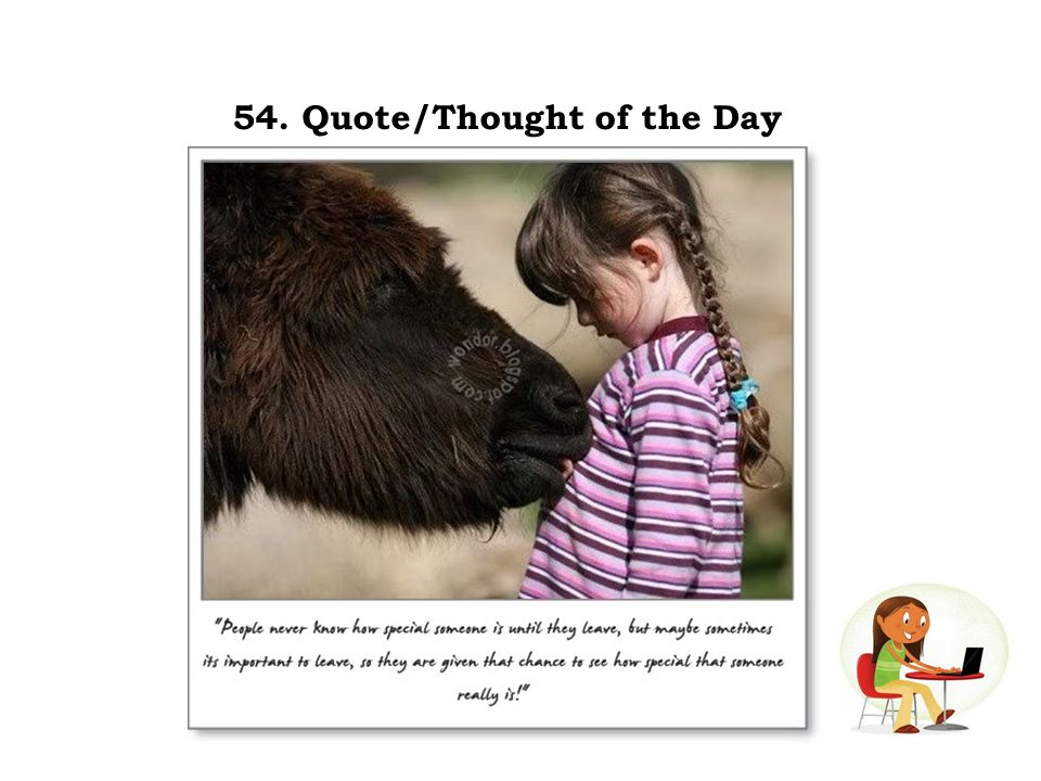 54. Quote/Thought of the Day