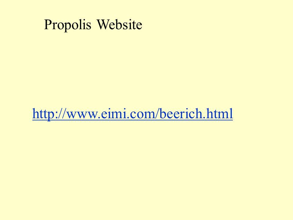 http://www.eimi.com/beerich.html Propolis Website