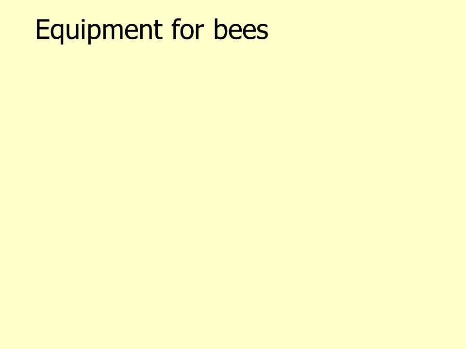 Equipment for bees