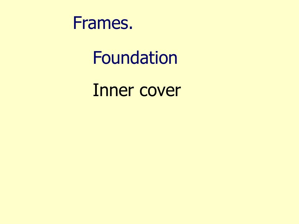 Frames. Foundation Inner cover