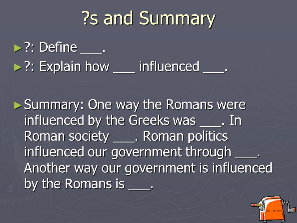 From Rome to Washington Give me 3 ways the Roman Republic influenced the U.S.