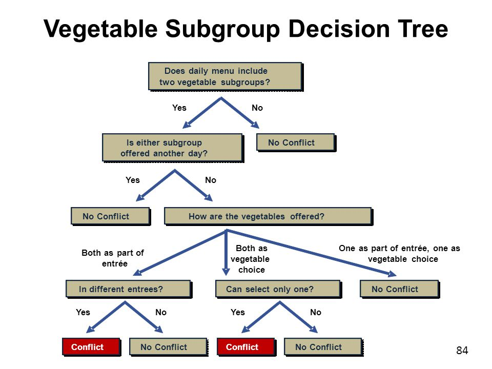 Dr. John D. Barge, State School Superintendent Making Education Work for All Georgians www.gadoe.org Vegetable Subgroup Decision Tree 84 Does daily me