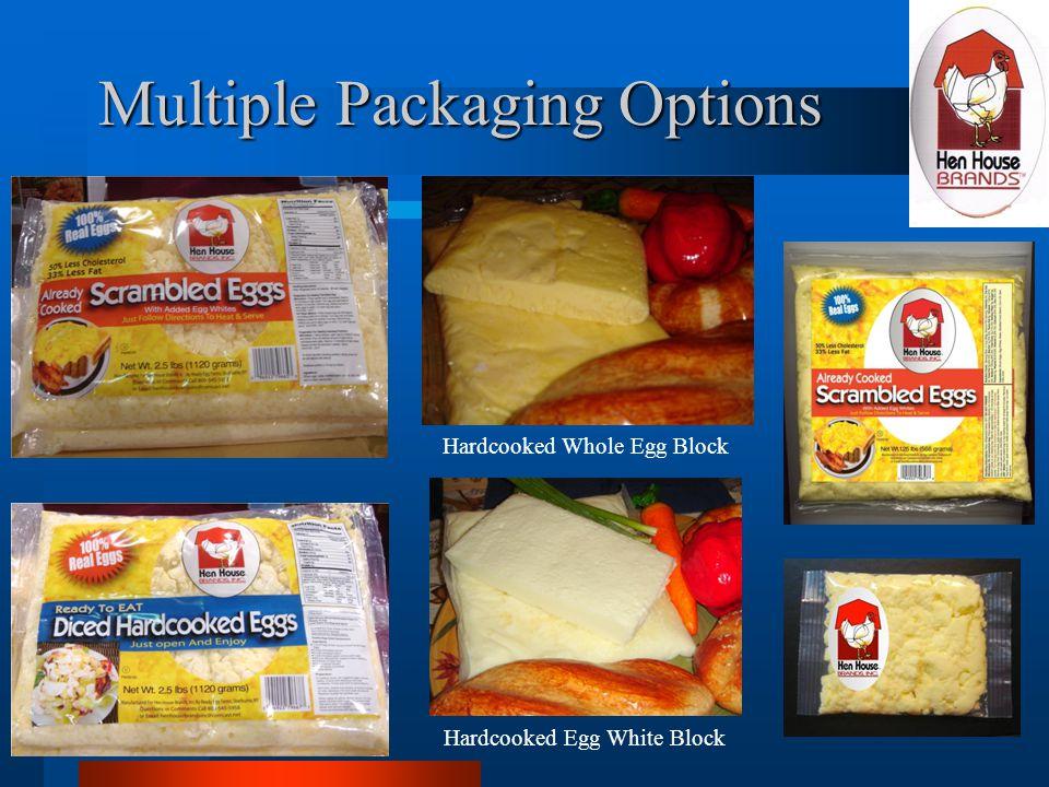 Multiple Packaging Options Hardcooked Whole Egg Block Hardcooked Egg White Block