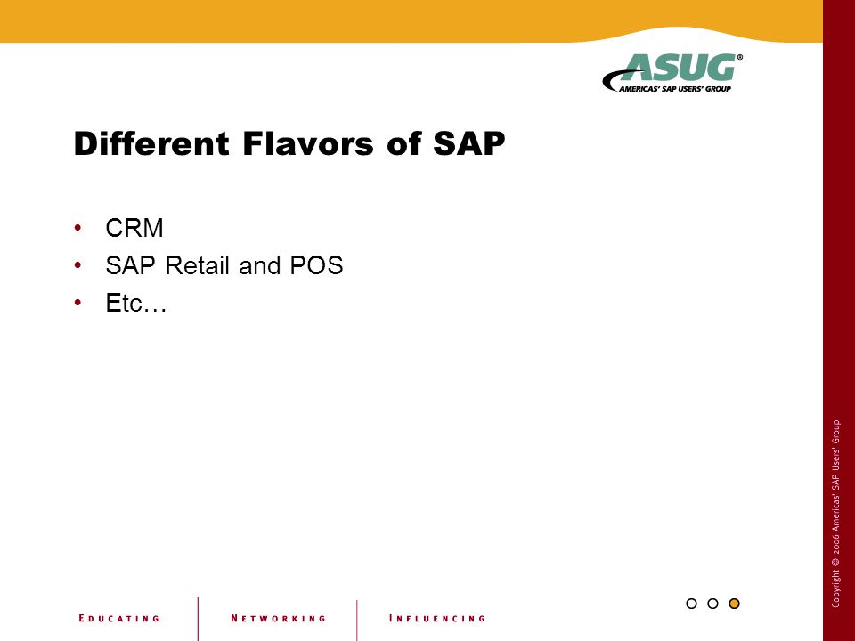 Different Flavors of SAP CRM SAP Retail and POS Etc…