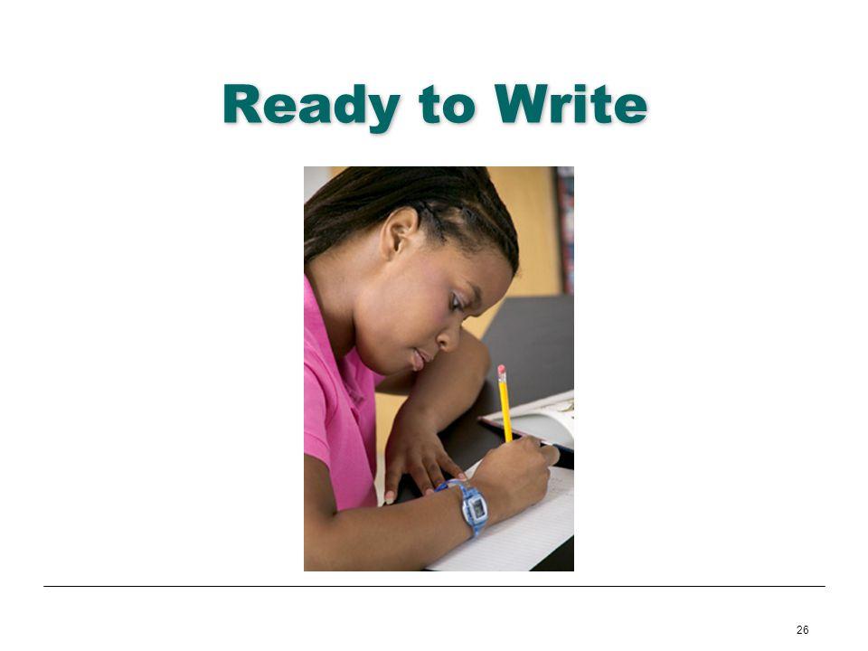 26 Ready to Write