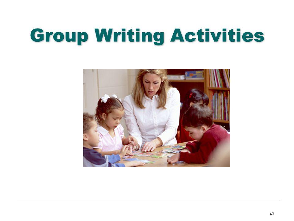 43 Group Writing Activities