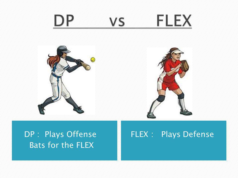 DP : Plays Offense Bats for the FLEX FLEX : Plays Defense