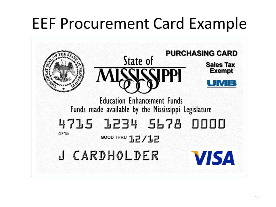 12 EEF Procurement Card Example