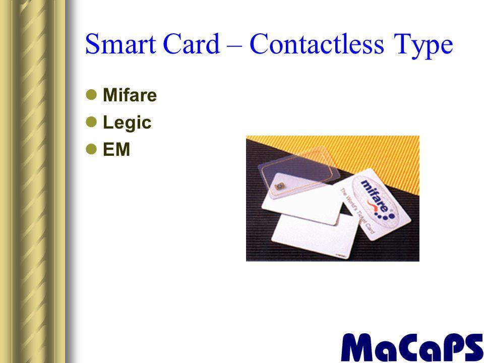 Smart Card – Contactless Type Mifare Legic EM