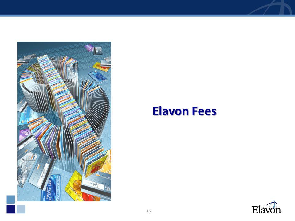 16 Elavon Fees