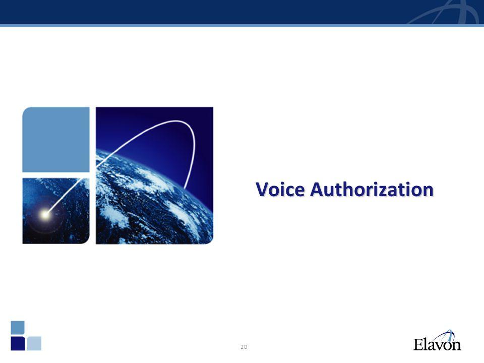 20 Voice Authorization