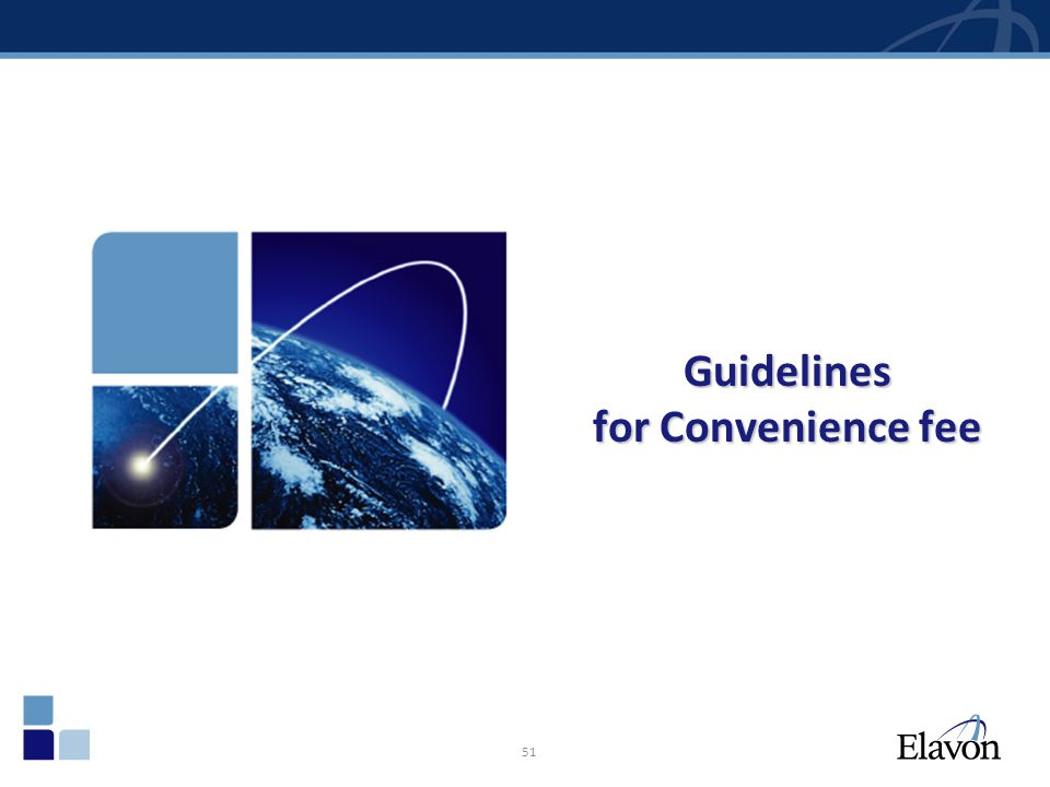 51 Guidelines for Convenience fee